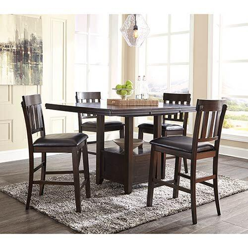 Signature Design by Ashley Haddigan 5-Piece Counter Height Dining Set