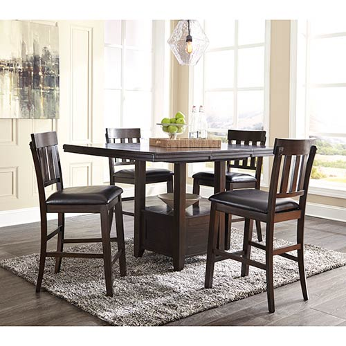 "Signature Design by Ashley ""Haddigan"" 5-Piece Counter Height Dining Set"