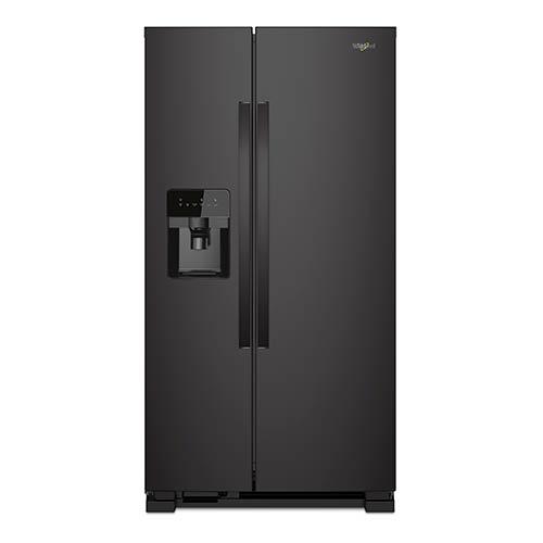 Whirlpool Black 21 Cu. Ft. Side-by-Side Refrigerator