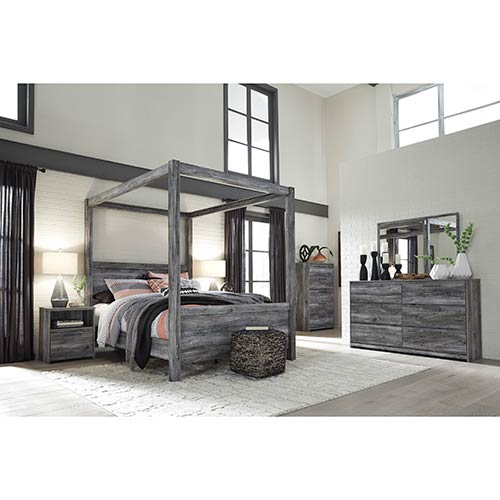 "Signature Design by Ashley ""Baystorm"" 6-Piece Queen Canopy Bedroom Set"
