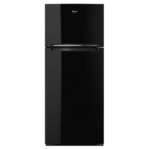 Whirlpool Black 18 Cu. Ft. Top-Freezer Refrigerator display image