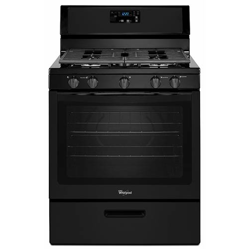 Whirlpool Black 5.1 Cu. Ft. Freestanding Gas Range