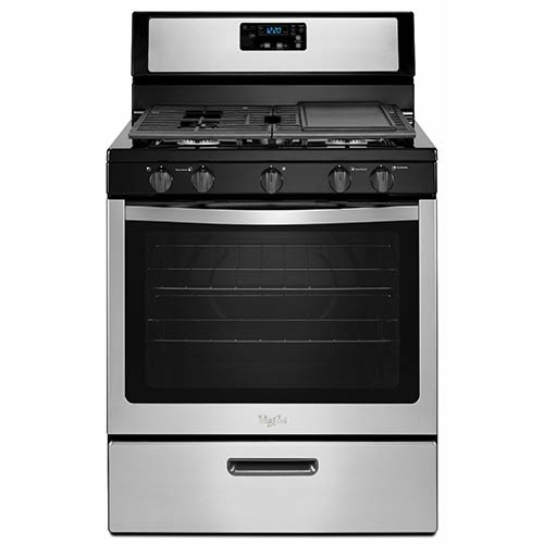 Whirlpool Stainless 5.1 Cu. Ft. Freestanding Gas Range