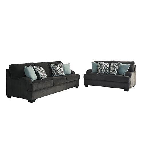 Peachy Benchcraft Charenton Charcoal Sofa And Loveseat Creativecarmelina Interior Chair Design Creativecarmelinacom