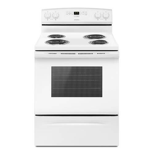 Amana White 4.8 Cu. Ft. Coil Top Electric Range