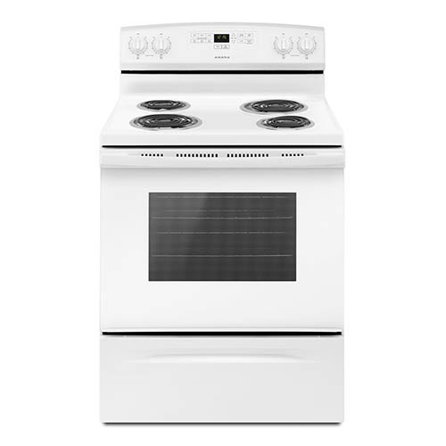 Amana White 4.8 Cu. Ft. Coil Top Electric Range display image