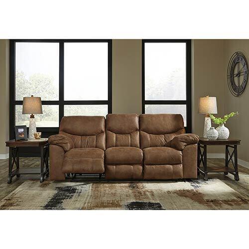 Signature Design by Ashley Boxberg-Bark Power Reclining Sofa