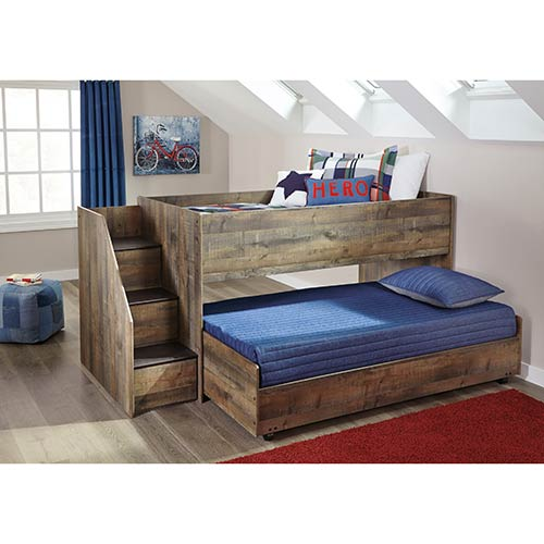 signature-design-by-ashley-trinell-twin-over-twin-loft-trundle-bed
