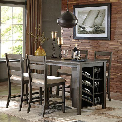 Signature Design by Ashley Rokane 5-Piece Counter-Height Dining Set