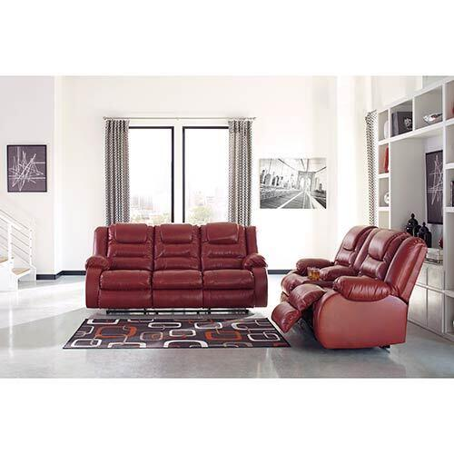 Signature Design by Ashley Vacherie-Salsa Reclining Sofa and Loveseat