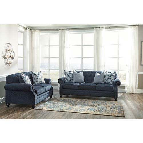 Benchcraft LaVernia-Navy Sofa and Loveseat