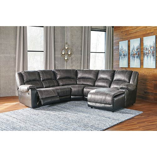 Signature Design by Ashley Nantahala-Slate 5-Piece Reclining Sectional display image