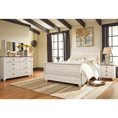 "Signature Design by Ashley ""Willowton"" 6-Piece Queen Bedroom Set"
