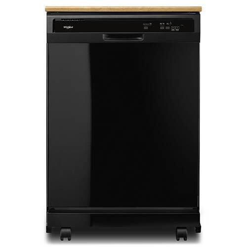 "Whirlpool 24"" Black Portable Dishwasher"