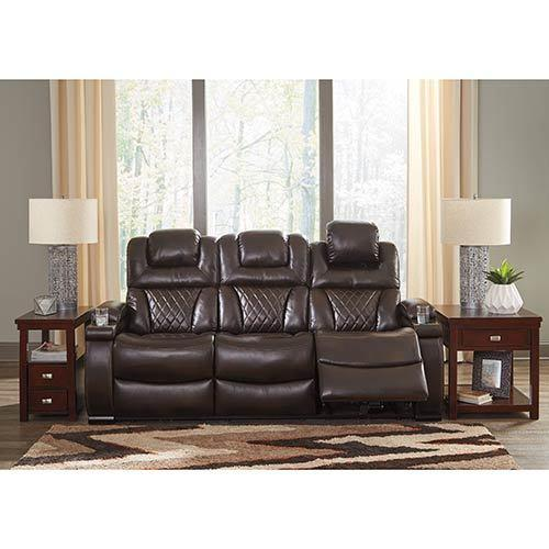 "Signature Design by Ashley ""Warnerton-Chocolate"" Power Reclining Sofa and Recliner"