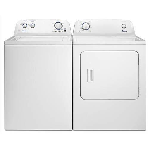 Amana 3.5 Cu. Ft. Washer and 6.5 Cu. Ft. Electric Dryer display image