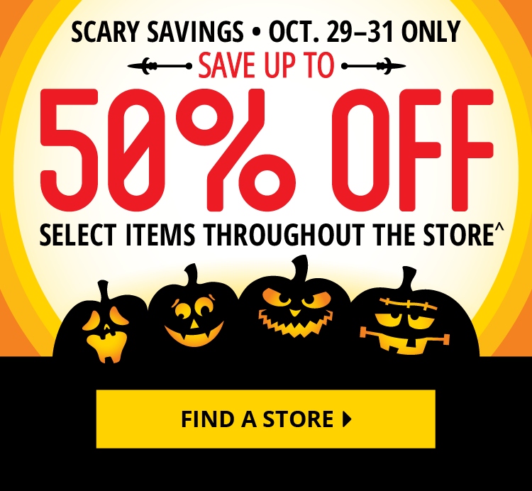 Scary Savings | 50% Off Select Items