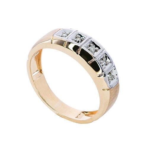 mens-10k-gold-genuine-5-stone-accent-diamond-ring