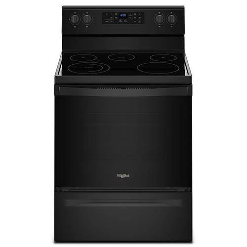 Whirlpool Black 5.3 Cu. Ft. Smooth Top Freestanding Electric Range