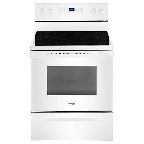 Whirlpool White 5.3 Cu. Ft. Smooth Top Freestanding Electric Range