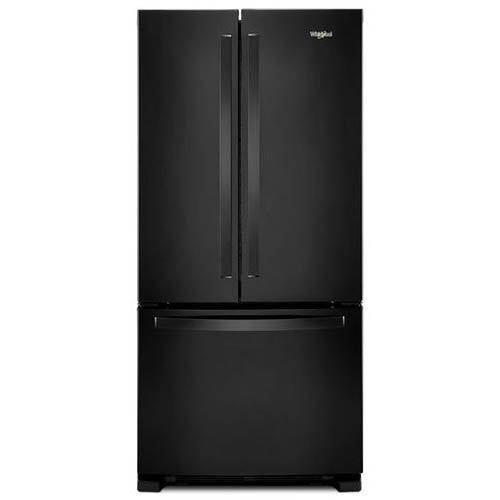 whirlpool-black-22-cu-ft-french-door-refrigerator